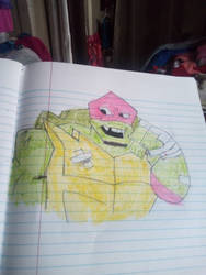 ROT TMNT Raph colored by Mew2fem