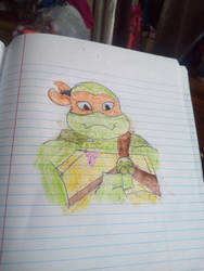 ROTTMNT Mikey colored by Mew2fem