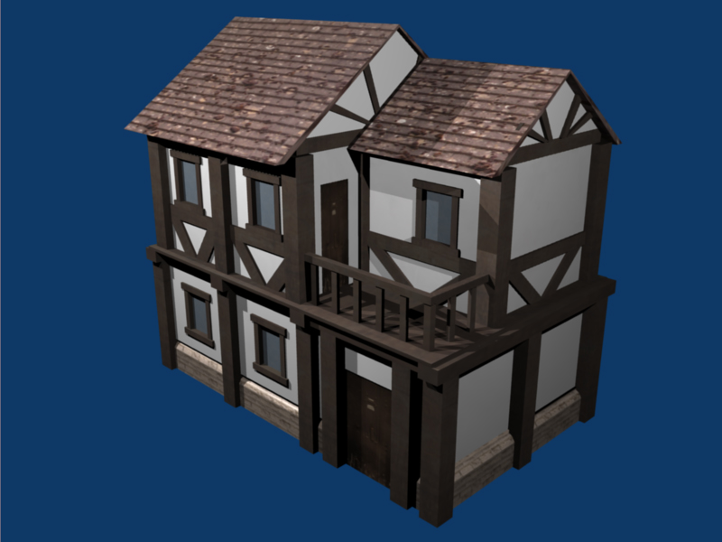 Small tudor house by dr fr4g on deviantart for Small tudor homes