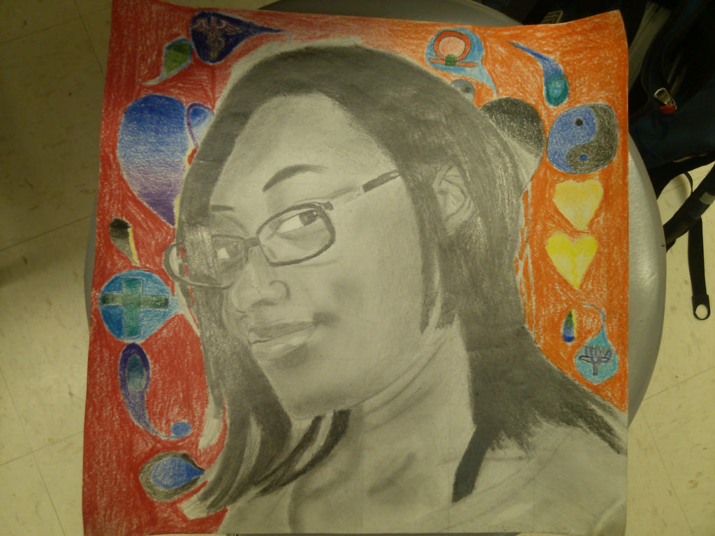 Self-portrait Finished by AJInu-Okami