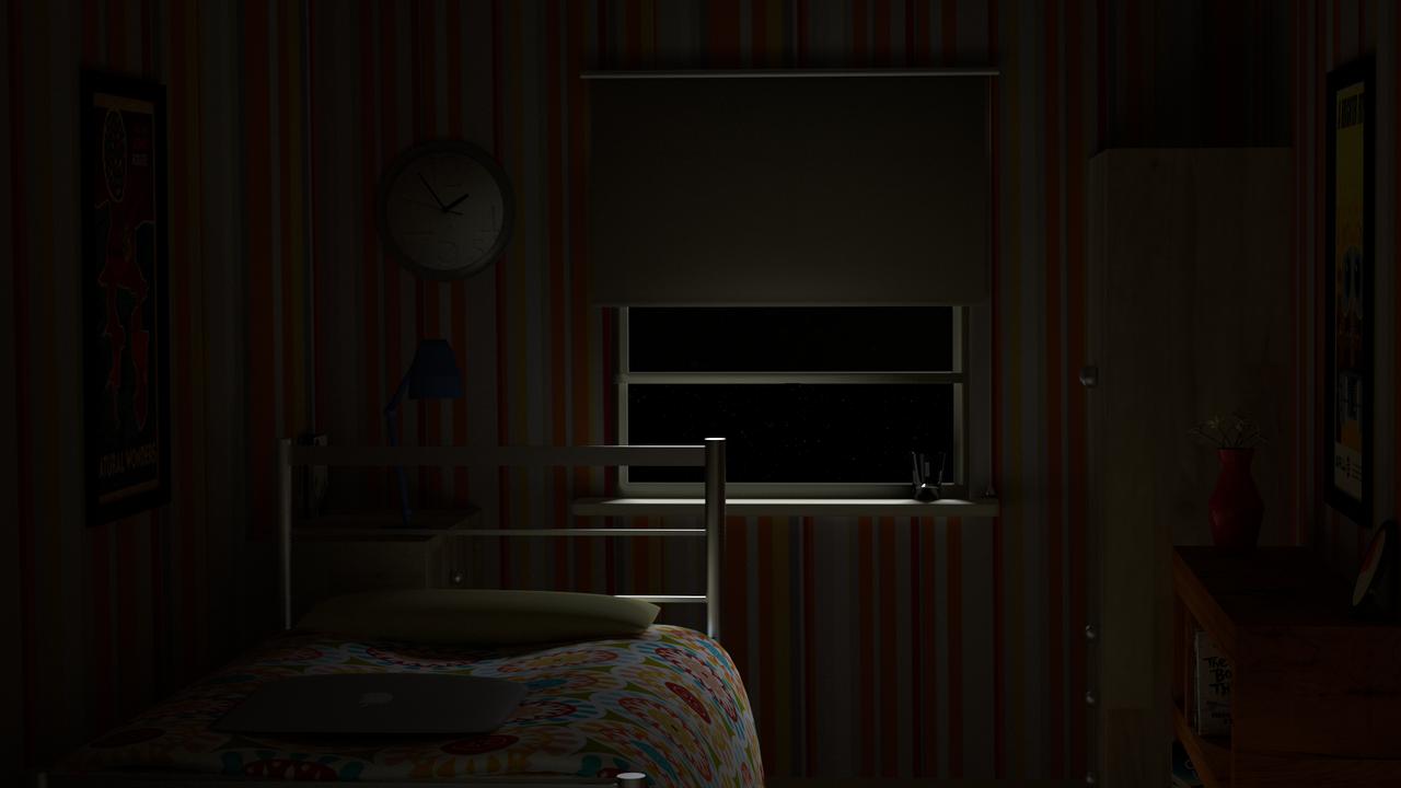 Blender bedroom night version by gb arts on deviantart for Bedroom night