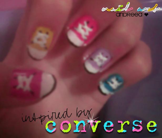 Nail Art Couture Converse Nail Art: Converse Nails By BurnYourBlood On DeviantArt