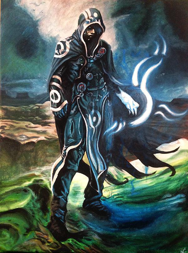 Jace Beleren Jace_beleren_reproduction_painting_by_dranixparemoon-d7r8gpv