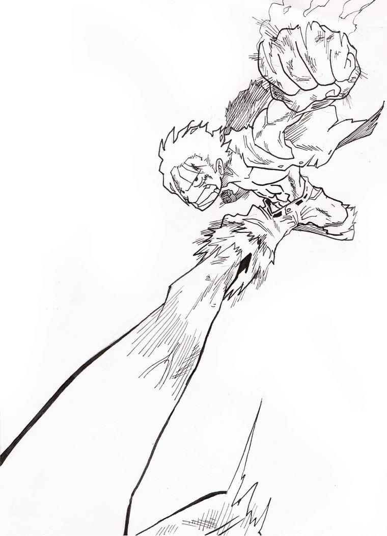 Luffy Lineart : Luffy draft lineart by donffy on deviantart
