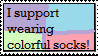 Colorful Socks Support Stamp by Horse-Girl-101