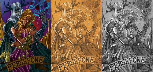 Hades and Persefone: Rulers of Underworld by lithiumsaint