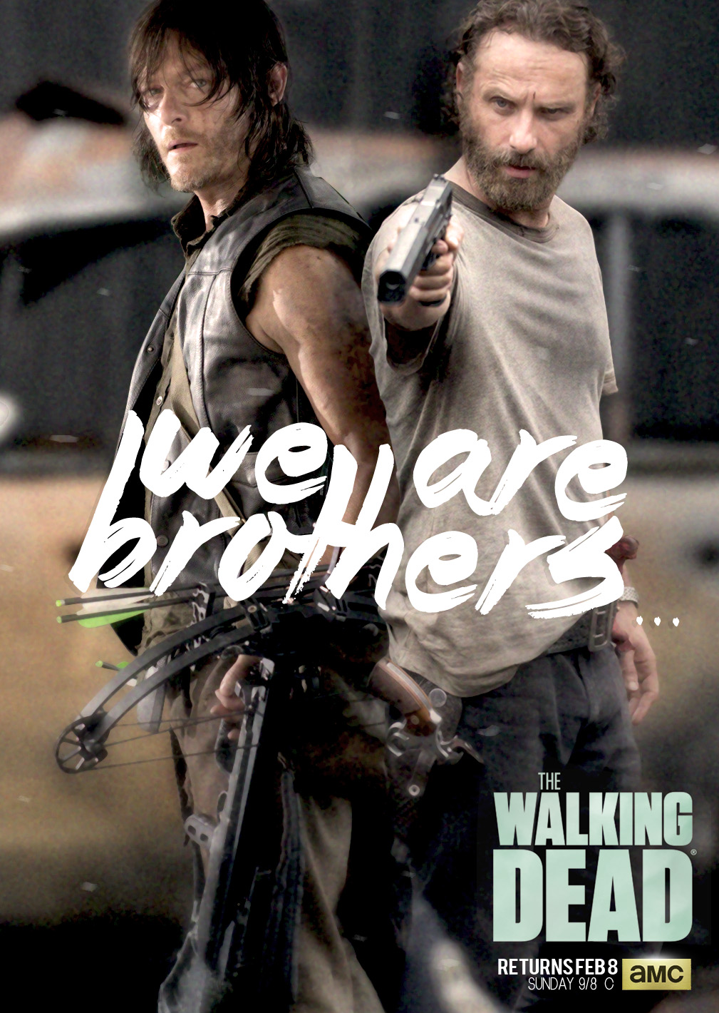 Poster The Walking Dead - We Are ... Rick - Daryl by ...