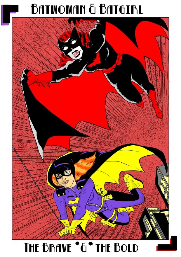 Batwoman and Batgirl by tsujigo