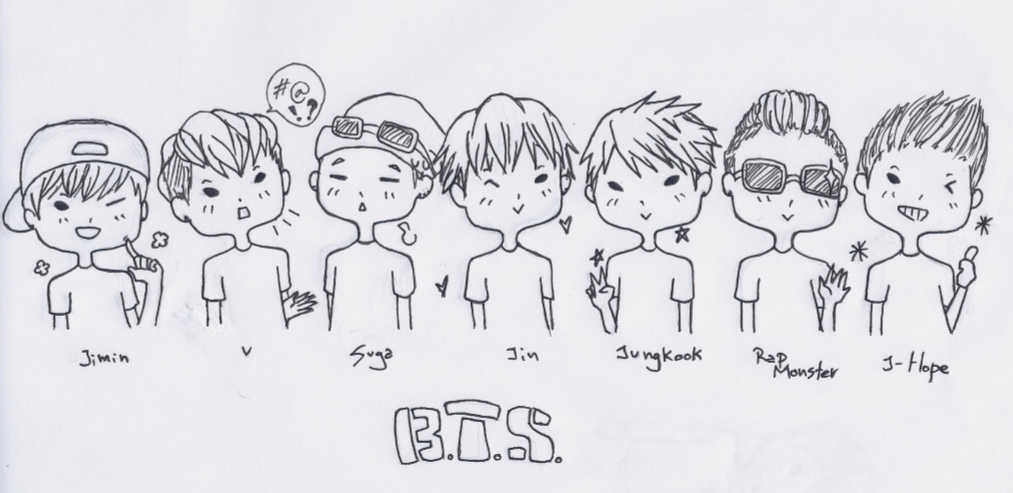 Bts Kpop Coloring Coloring Pages