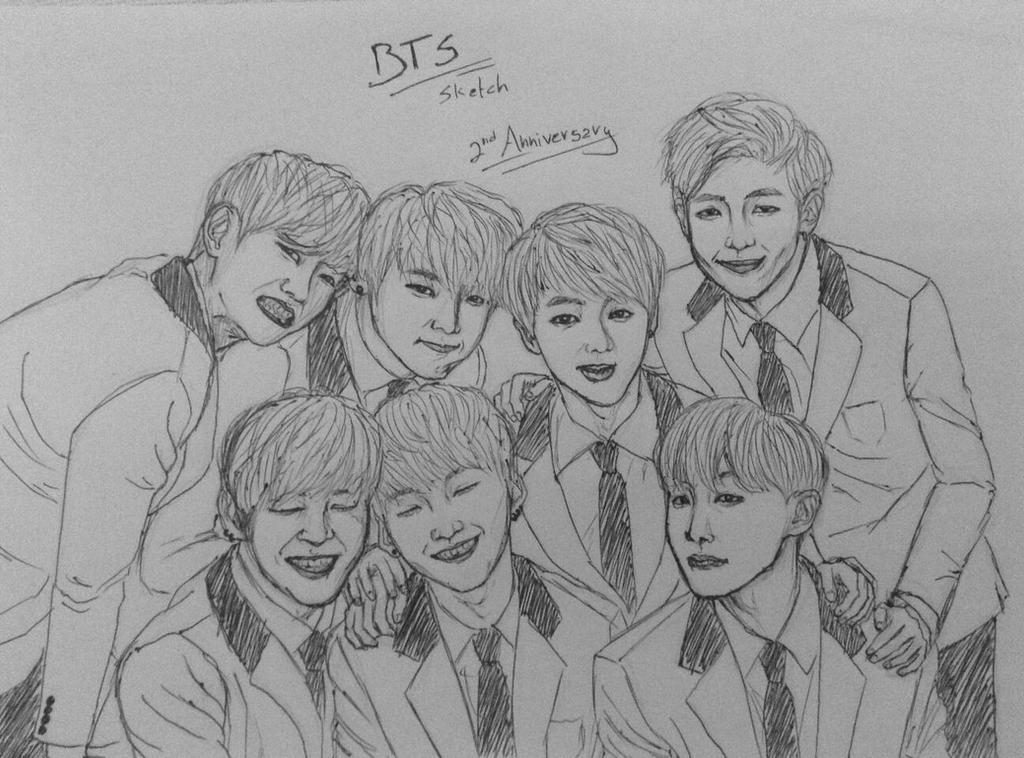 BTS- Crappy Sketch By YellowHaruka On DeviantArt