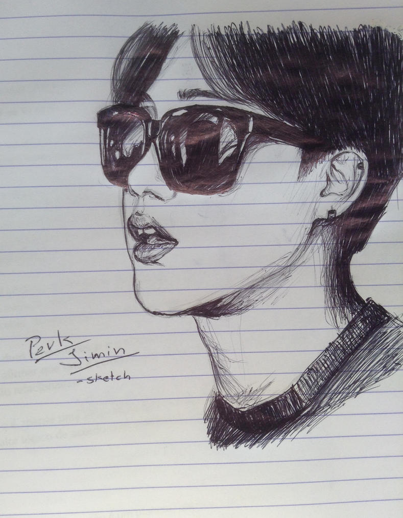 Park Jimin- Sketch By YellowHaruka On DeviantArt