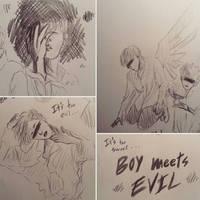Boy Meets Evil (sketches)  by YellowHaruka