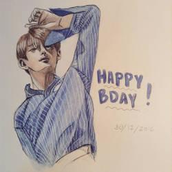 Kim Taehyung- Happy Birthday 30122016 by YellowHaruka