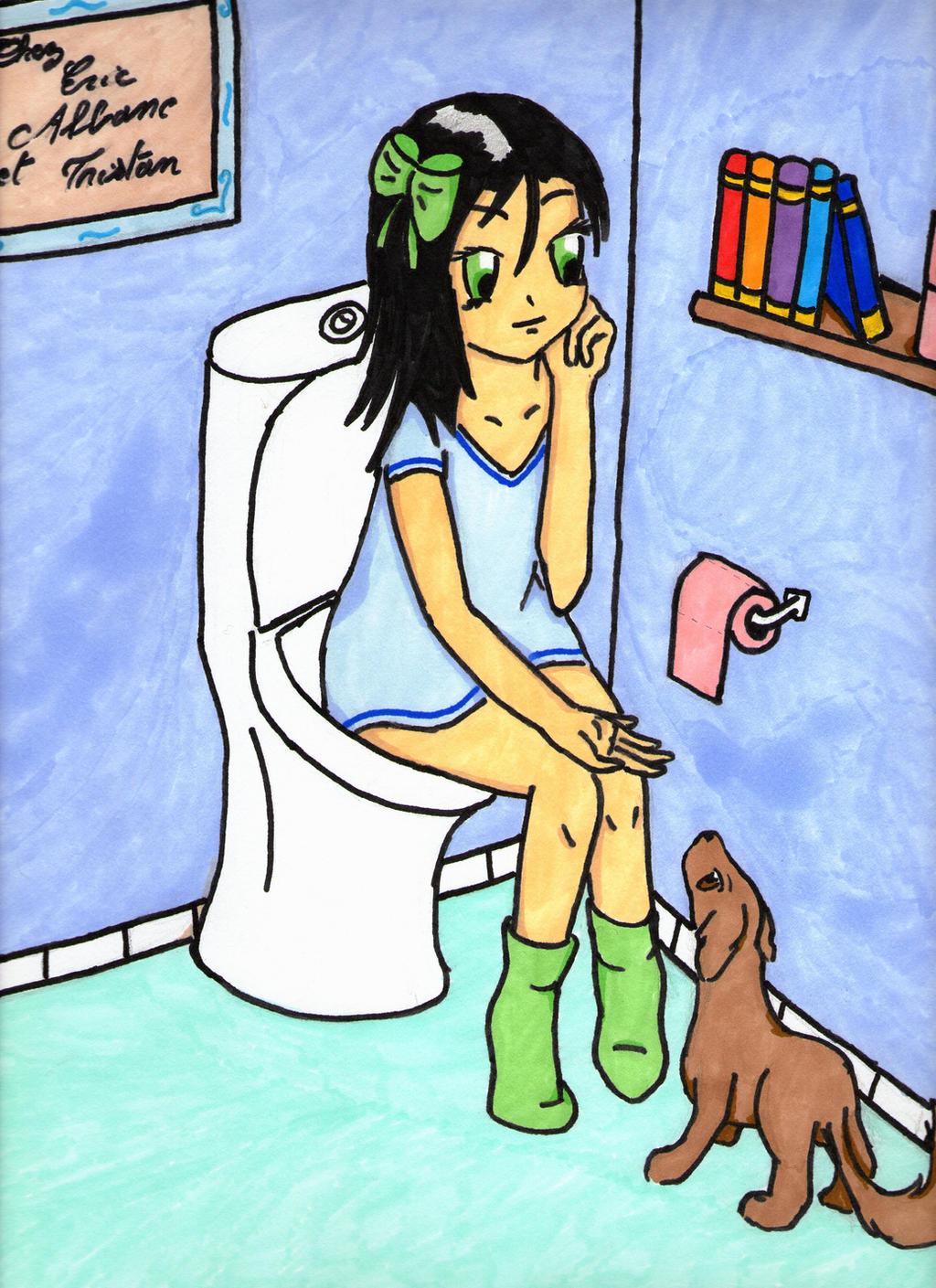 Anime sex toilet