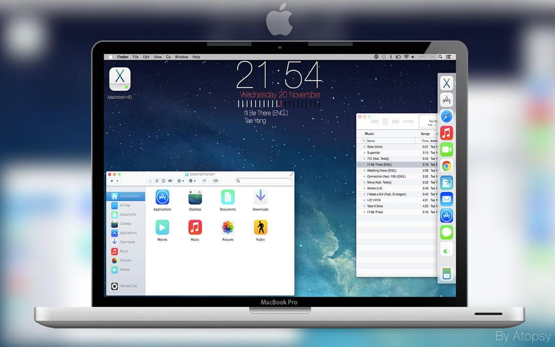 Mac iOS 7 Desktop Update by Atopsy