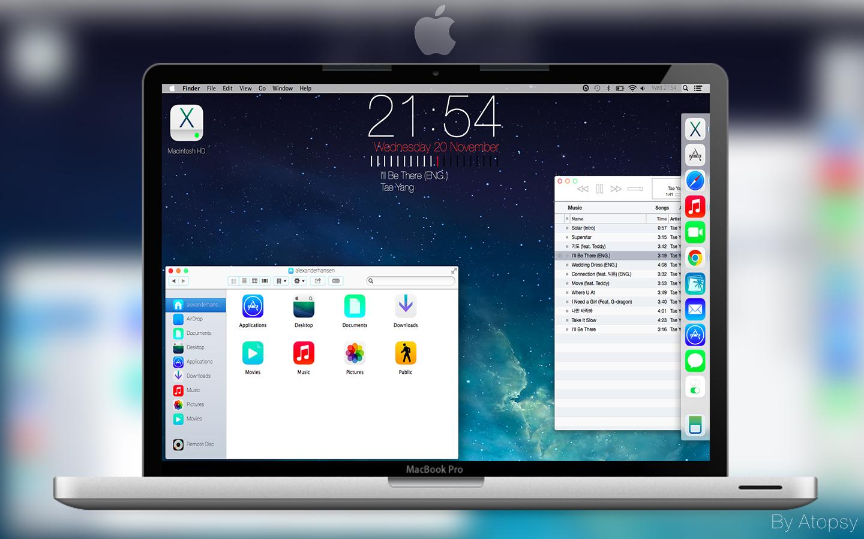 Mac iOS 7 Desktop Update