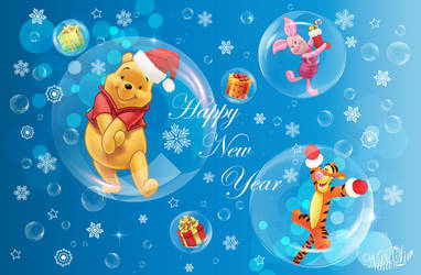 Happy New Year Card - Vector 100% by NikaLim