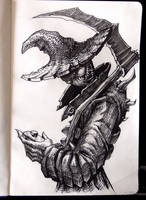Inktober 12 - Scarecrow by Damjan-Gjorgievski