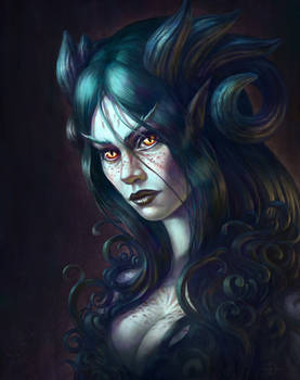 Tenebriel the Dark Dryad by Damjan-Gjorgievski