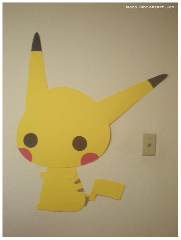 Pikachu Cutout by Usato