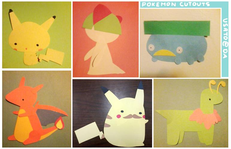 pokeman cutouts by Usato