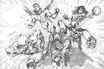 DC characters fan art