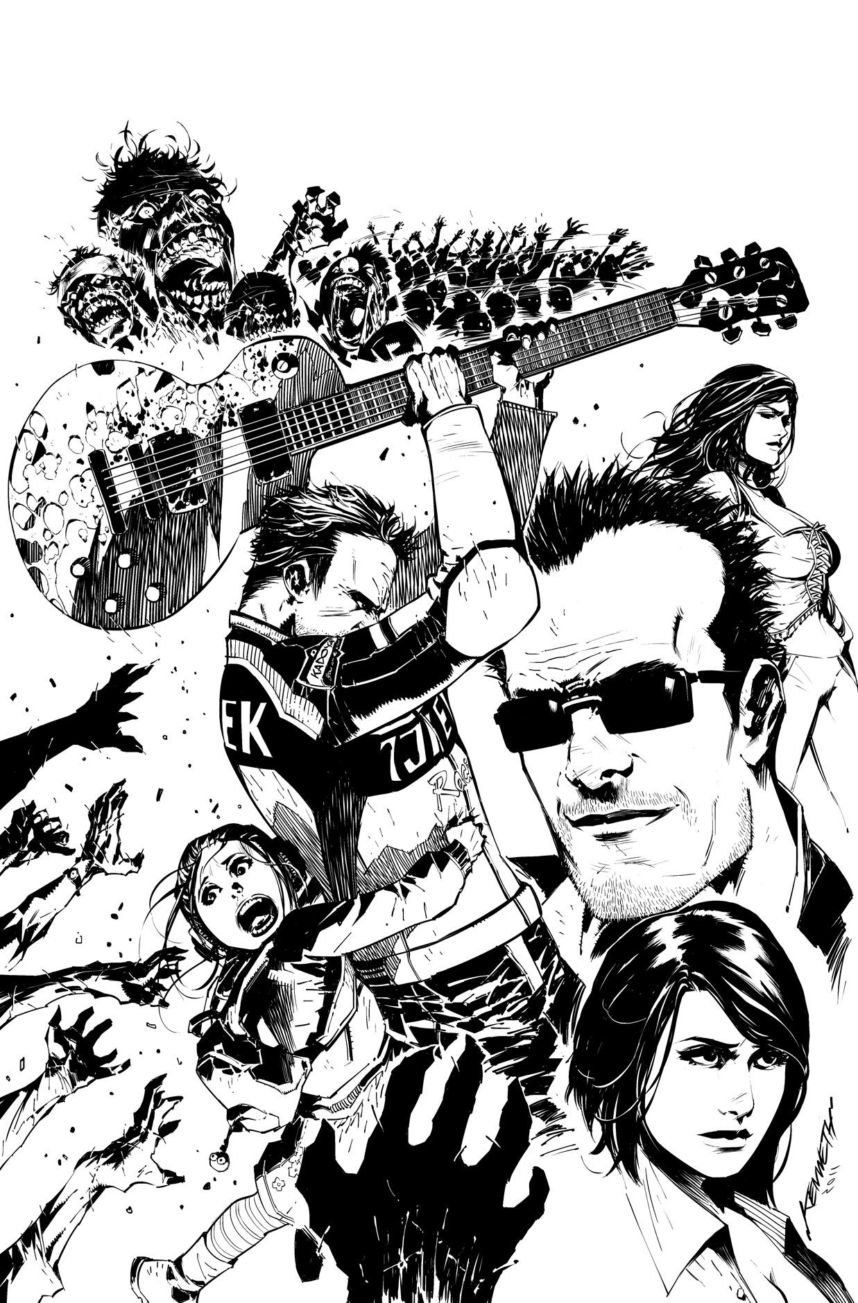 Capcom Dead Rising #01 Cover by scabrouspencil