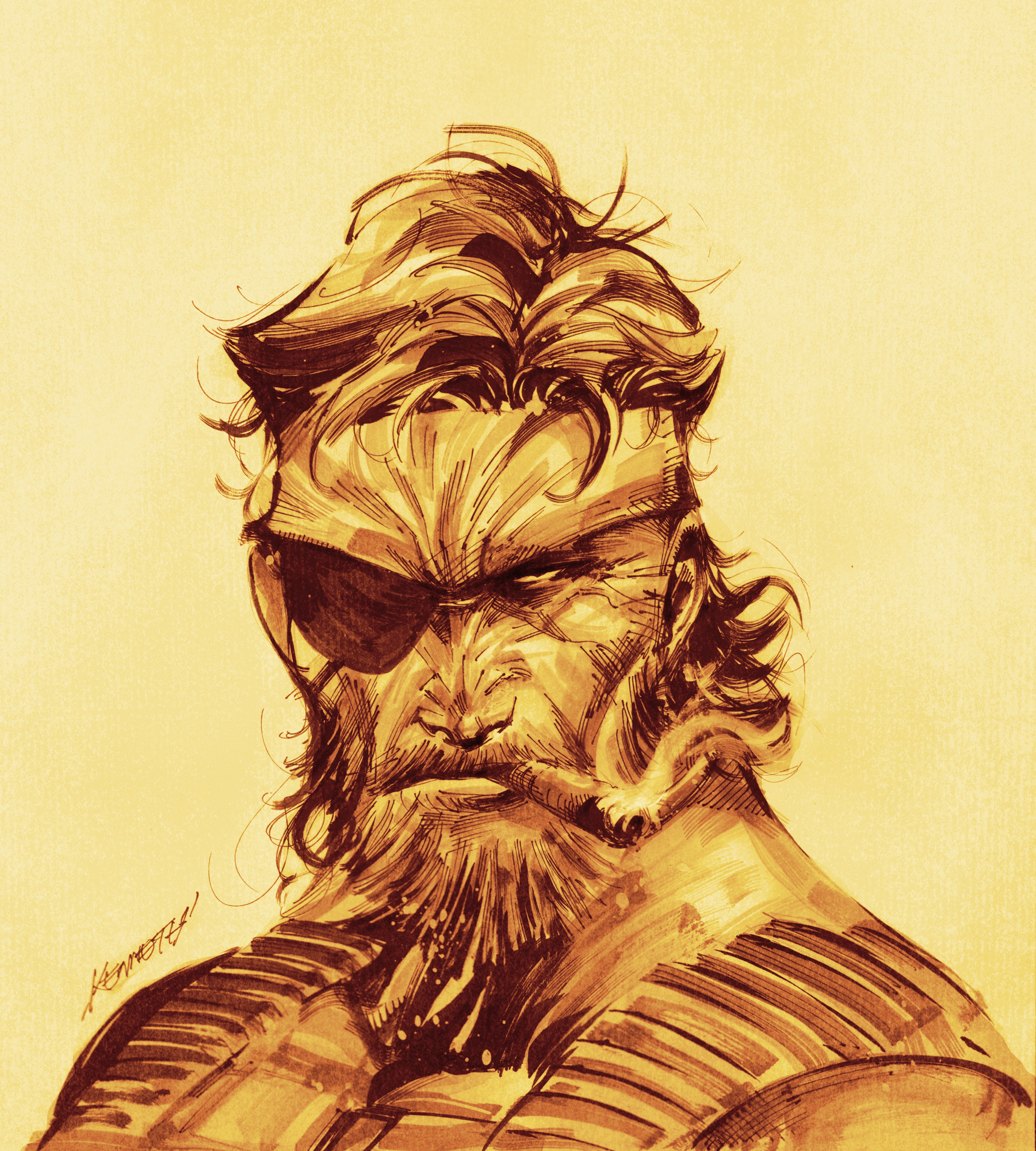 MGS 5 fanart by scabrouspencil