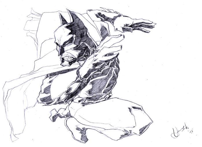 Batman_lineart by scabrouspencil