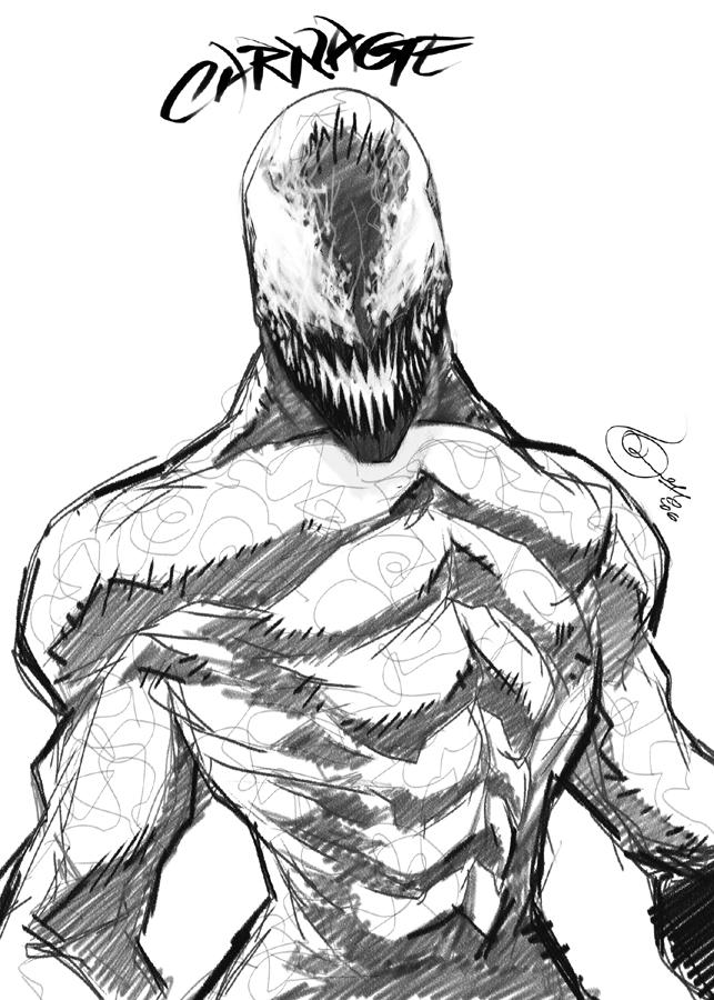 Colouring Pages Venom : Carnage and venom coloring pages sketch page
