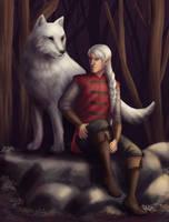 Lunarr and the Wolf by fliffyfliffen