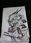 Mech pen sketch - free hand
