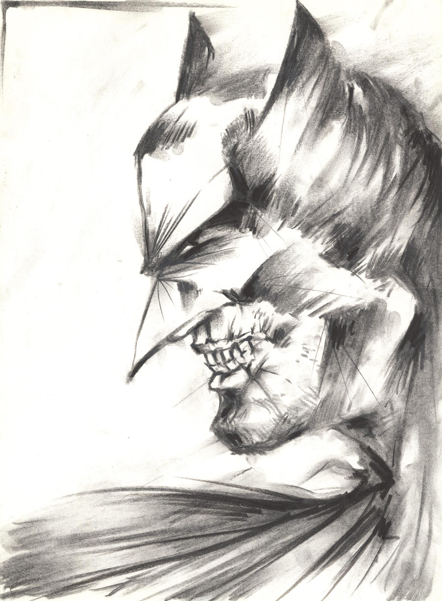 Batman Portrait by Indradas