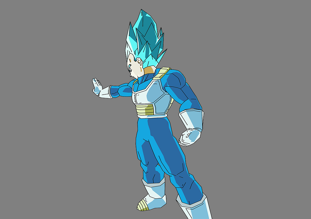 Vegeta SSJBlue ZEQ2-Lite by YunoKawai