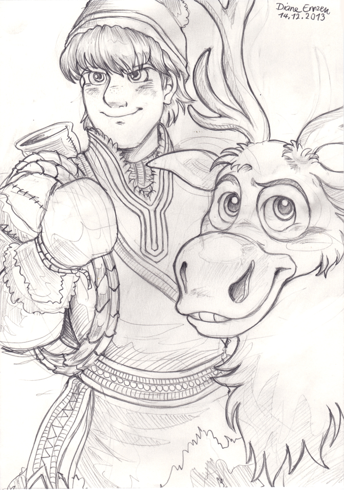 kristoff and sven by yamatoking on deviantart