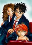Harry Ron Hermione uniform