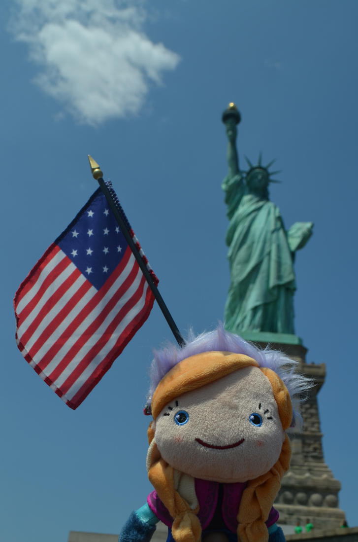 Anna loves the statue of liberty by Yamatoking