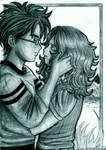 Harry and Hermione first kiss