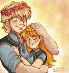 Kristoff and Anna Flowercrowns
