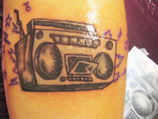 Boombox Tattoo  by msi...