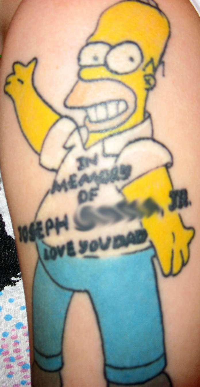 Homer tattoo by msiisjesus on deviantart for Homer simpson tattoos