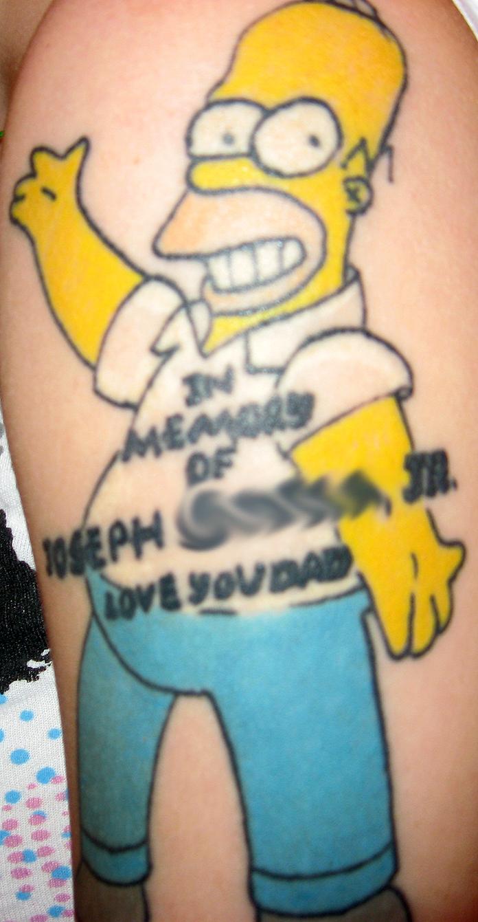 Homer tattoo by msiisjesus on deviantart for Homer simpson vagina tattoo