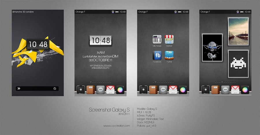Galaxy S MIUI 3010.2k11 by InfinityK4fx