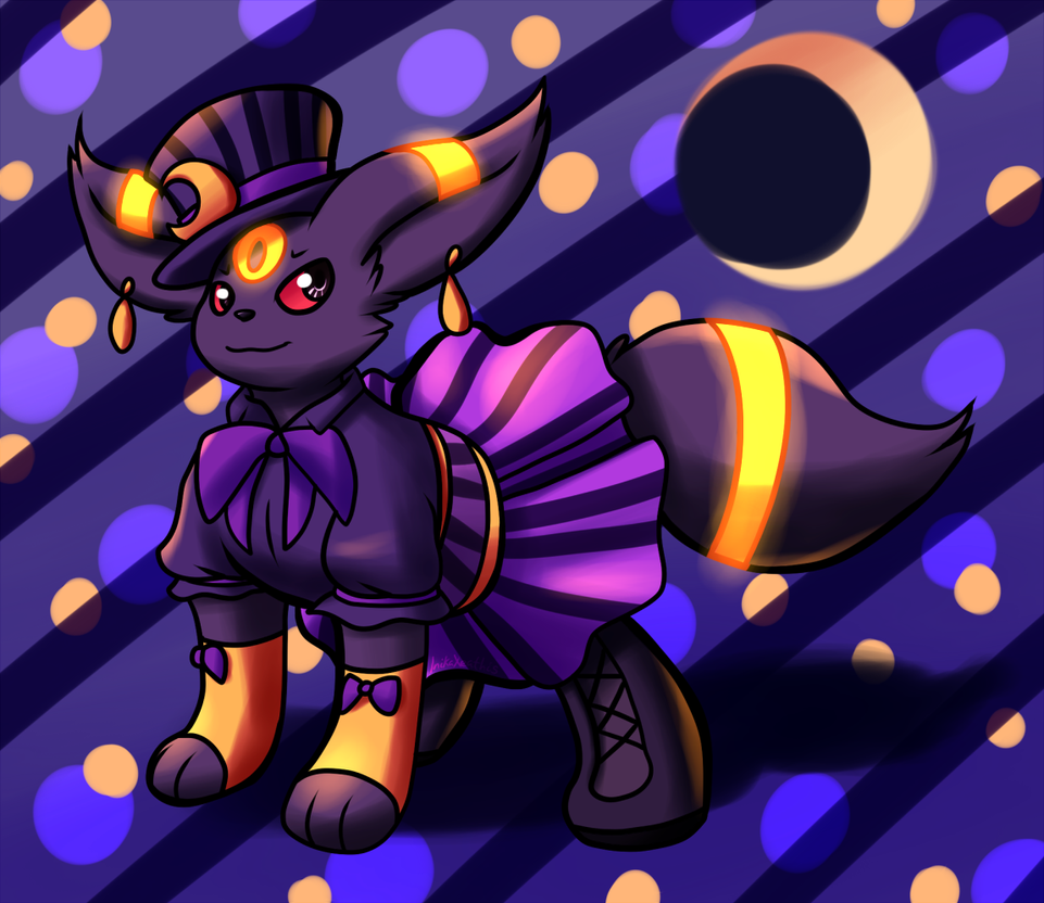 Magical Umbreon by Inika-Xeathis