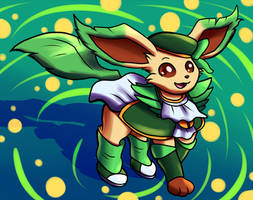 Magical Leafeon by Inika-Xeathis