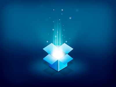 Glowing Dropbox by Balling