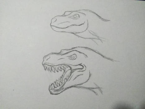How The T-rex will look if he got lips.