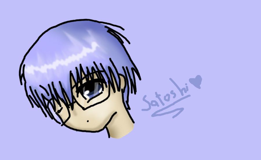 I'm sleepy - Satoshi doodle by Duchesse2