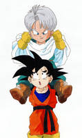 Son-Goten + Trunks by rhabi