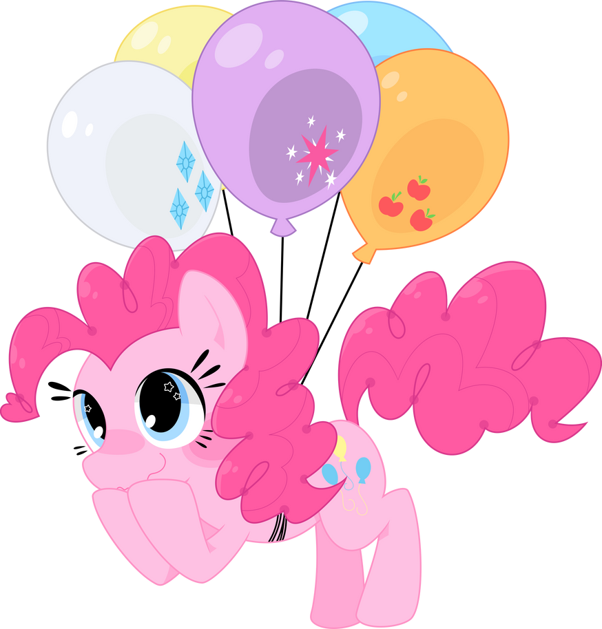 Pinkie's prefered mode of transport by SketchyStars